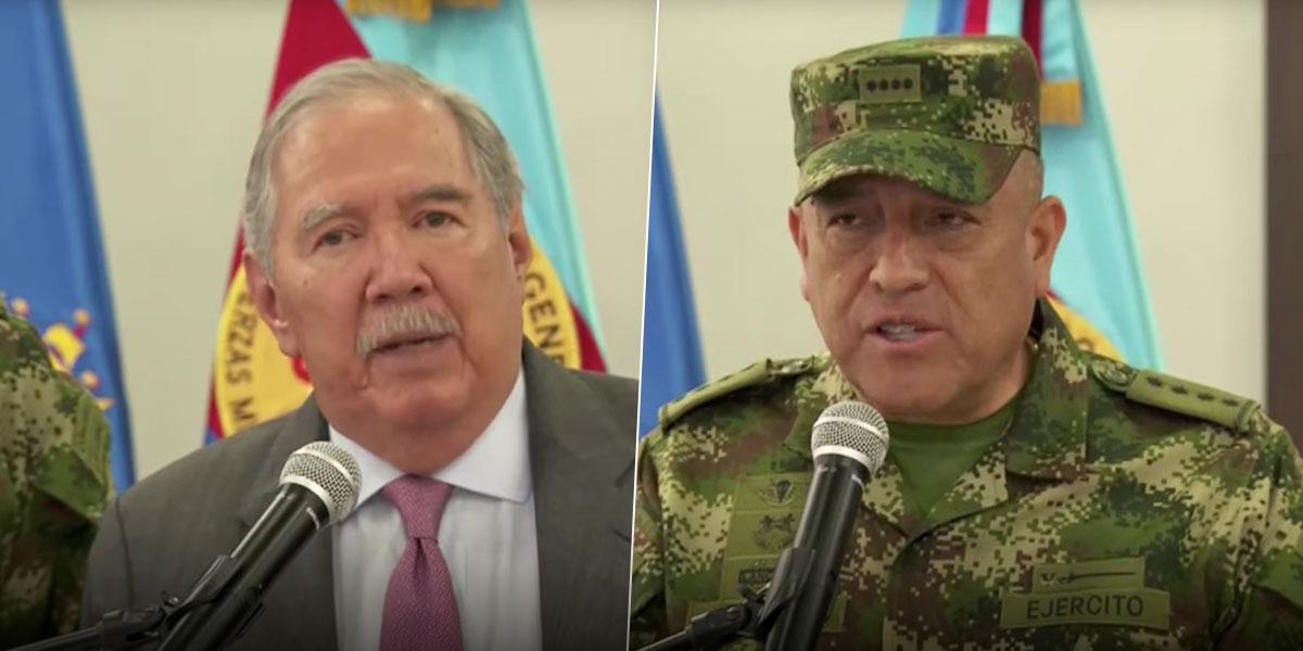 MinDefensa y el Grl. Navarro entregaron detalles de bombardeo en el que resultaron asesinados siete menores