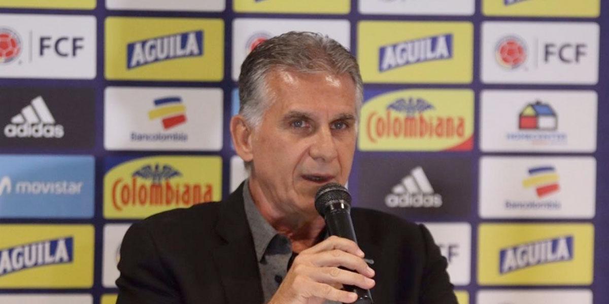 Queiroz revela los jugadores con los que enfrentará a Perú y Ecuador en noviembre