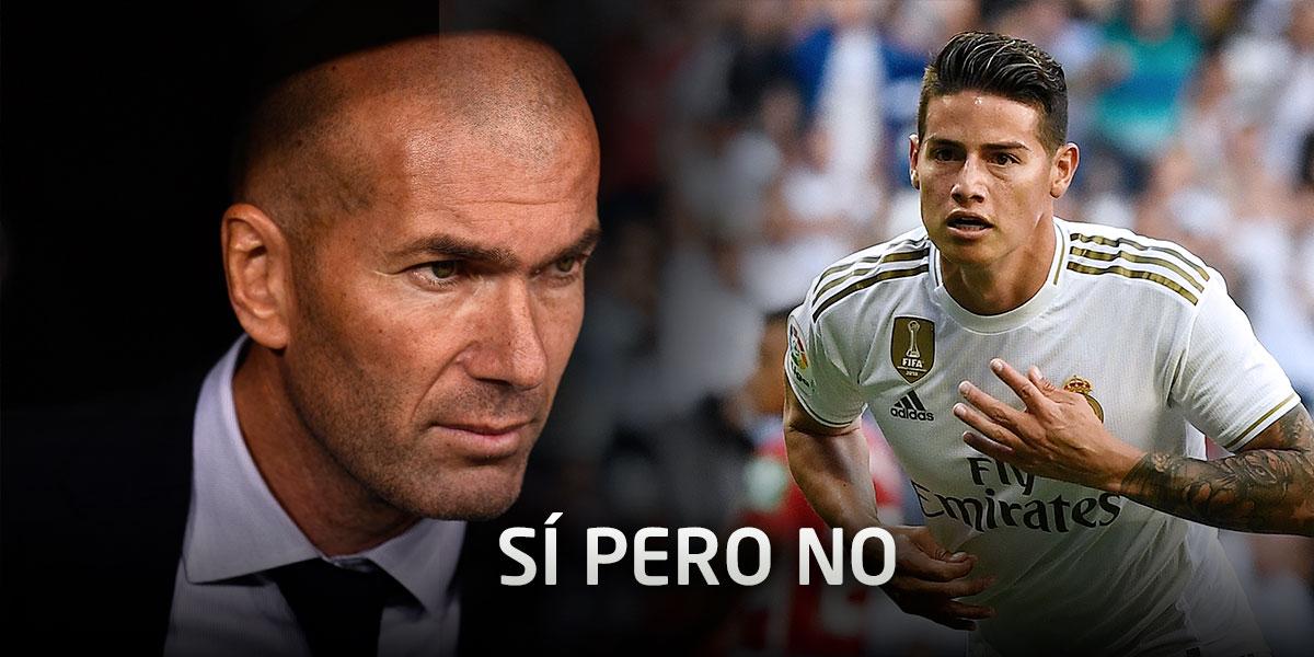 Sí pero no: Zidane, en el 'fango' al tratar de explicar la situación de James