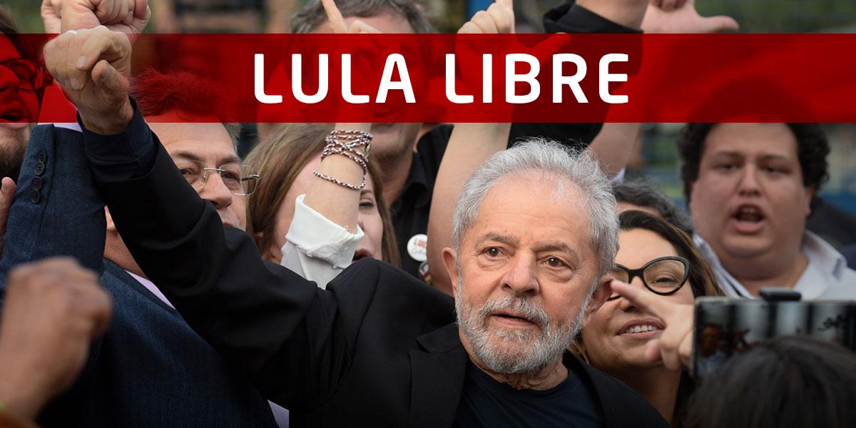 Lula libre: el expresidente de Brasil sale de la cárcel después de 1 año y 7 meses
