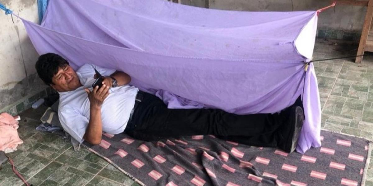 Evo Morales, del Palacio Presidencial a dormir en el suelo tras su renuncia