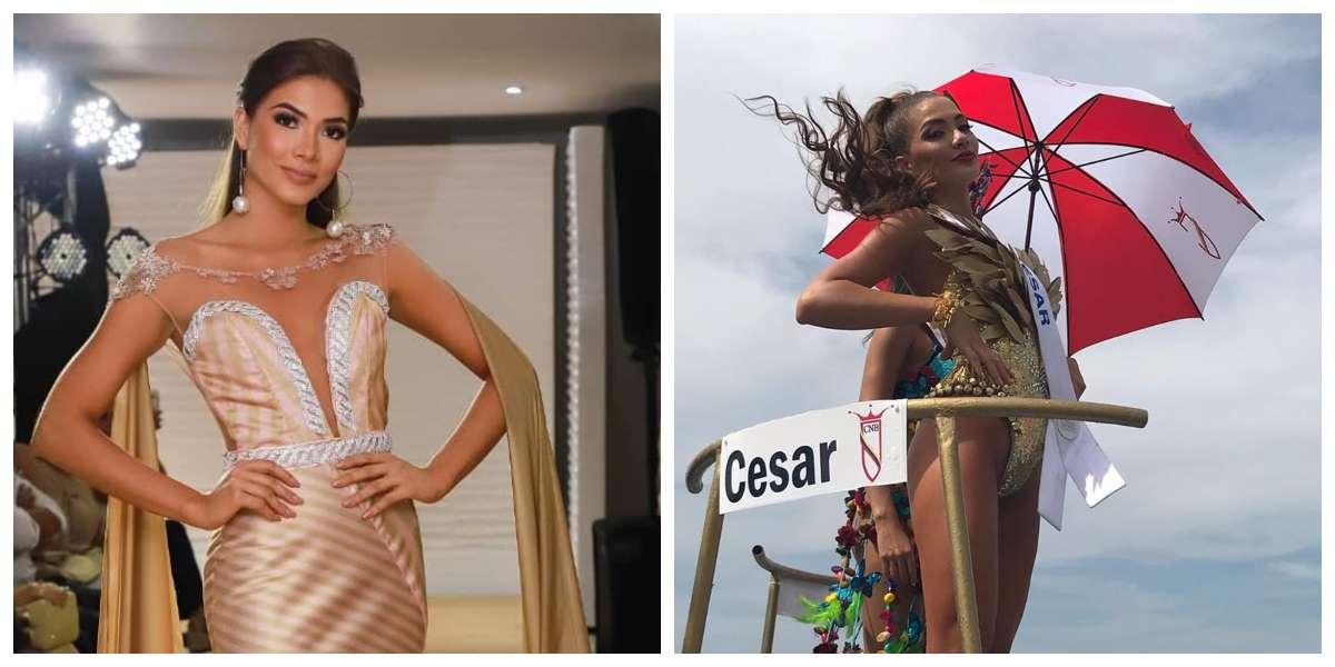 El accidente que tuvo la Señorita Cesar con su vestido que no se vio en televisión