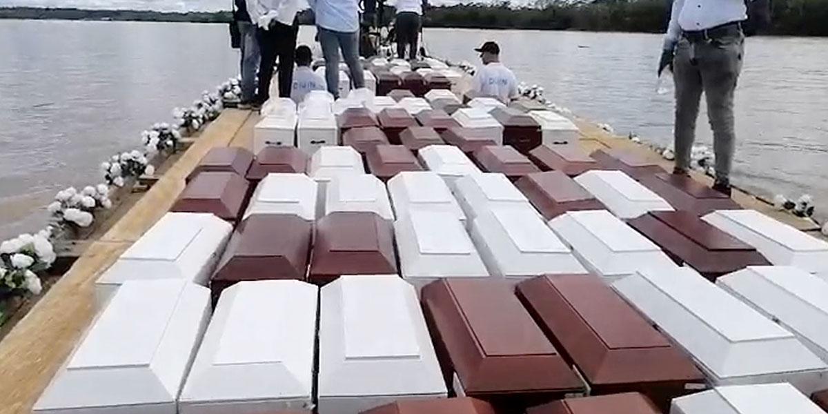 Familiares de víctimas de Bojayá realizan homenaje tras 17 años de la masacre