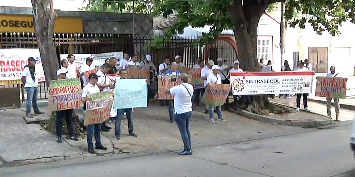 Sindicato de la UNP en Barranquilla protestó en rechazo por los asesinatos de los últimos días