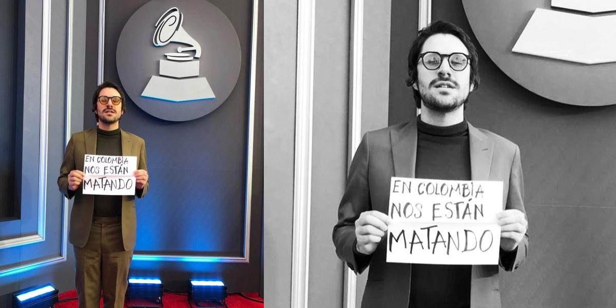 """""""Nos están matando"""": el mensaje de Juan Pablo Vega en los Latin Grammy"""