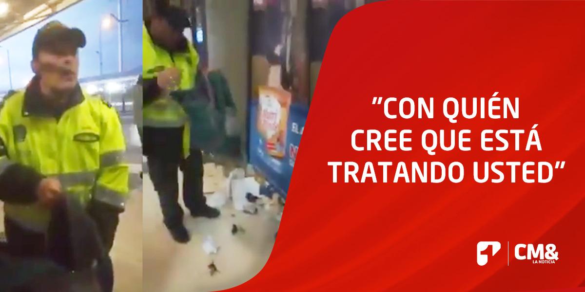La indignante y abusiva 'requisa' de un policía a un ciudadano en Transmilenio