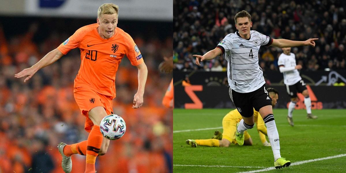 Alemania y Holanda aseguraron su cupo en la próxima Eurocopa