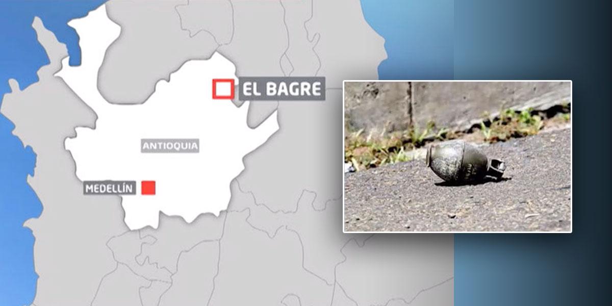 Niña de nueve años resultó herida por explosión de una granada en Antioquia
