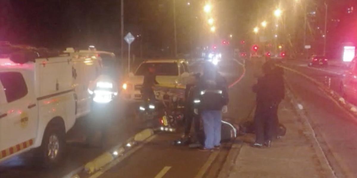 Víctima de carro 'fantasma' en el norte de Bogotá sufrió fractura de fémur