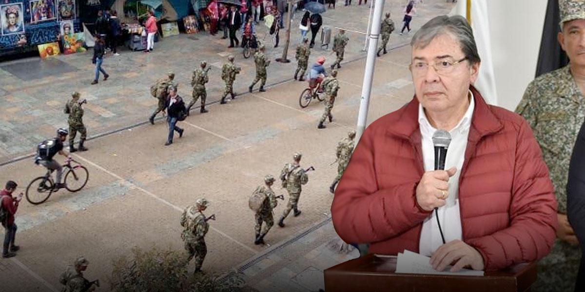 MinDefensa aclara por qué hay Ejército patrullando en Bogotá