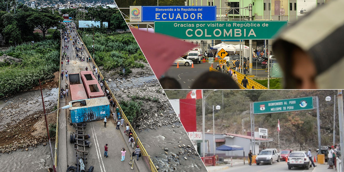 Colombia cerró fronteras con Ecuador, Perú, Brasil y Venezuela por paro del 21N