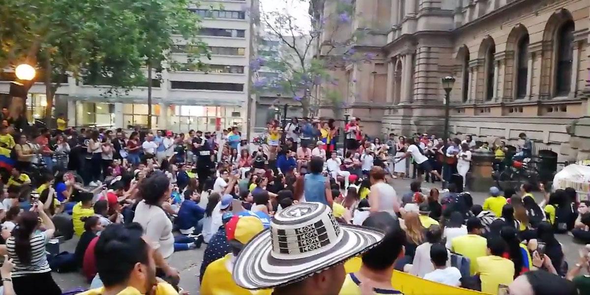 Colombianos en Australia se suman al paro del 21N