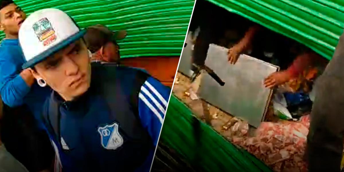 Ante falta de policías, vecinos detuvieron el saqueo a Surtimax y acusaron a venezolanos