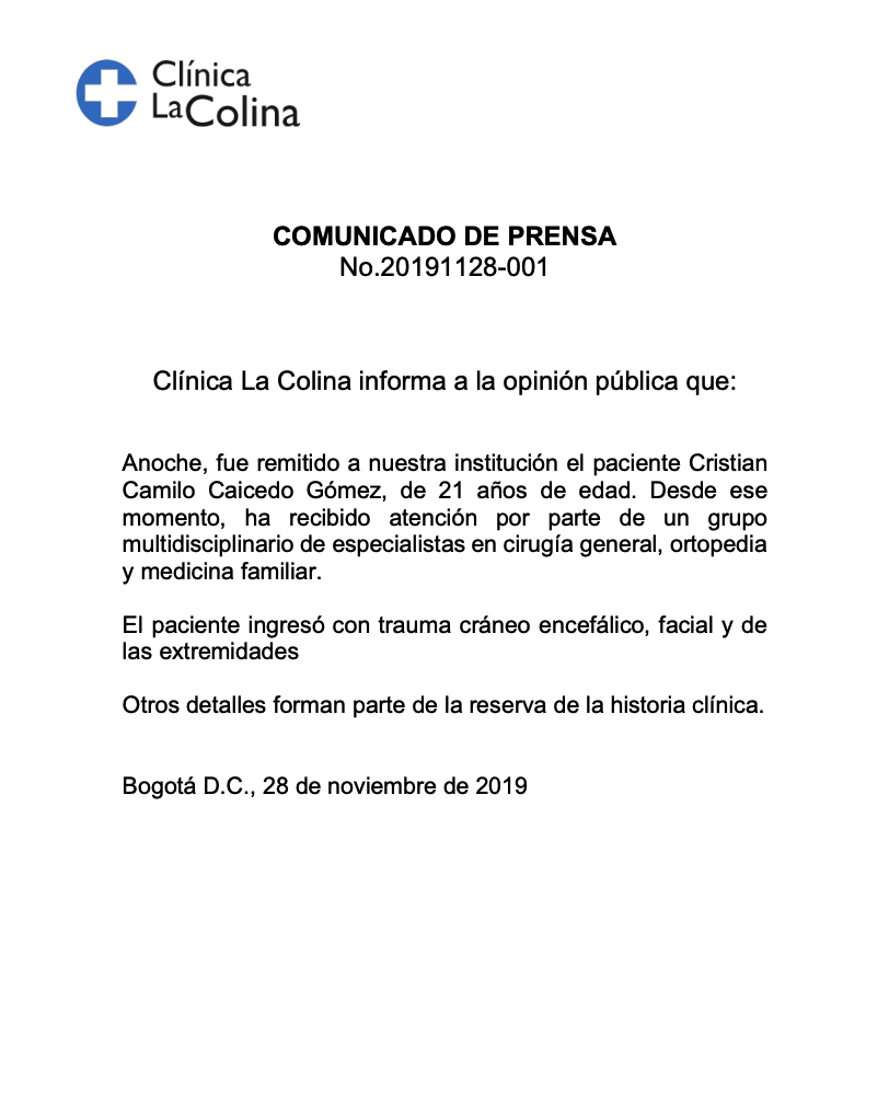 """Resultado de imagen de clinica la colina comunicado"""""""