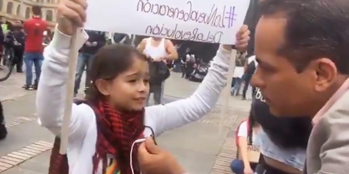 Allison, la niña que dejó boquiabiertos a muchos por sus argumentos en el paro nacional