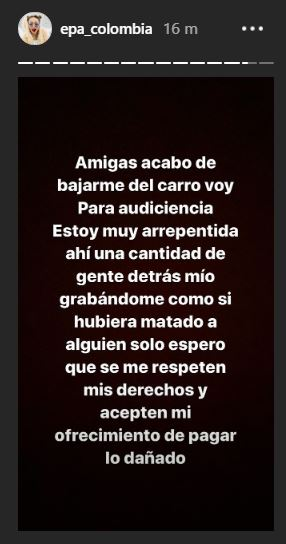 epa colombia audiencia fiscalia historia de instagram