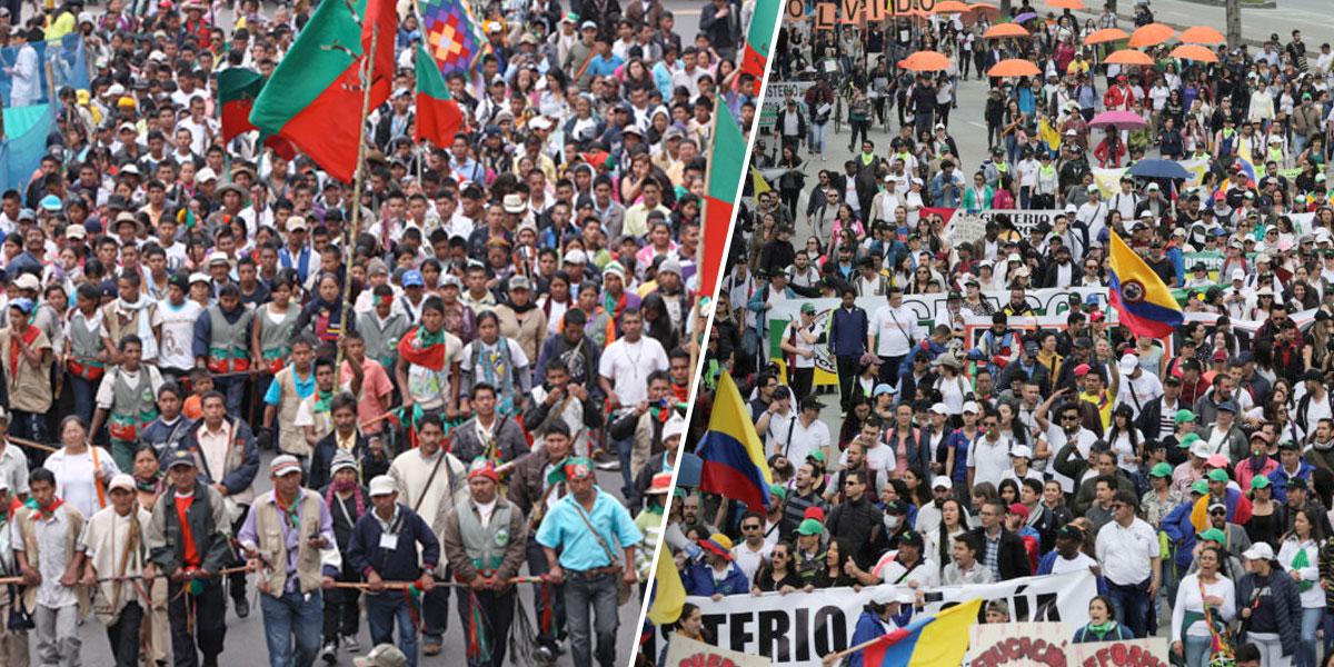 Delegaciones indígenas de varias regiones llegarán a Bogotá para sumarse al paro