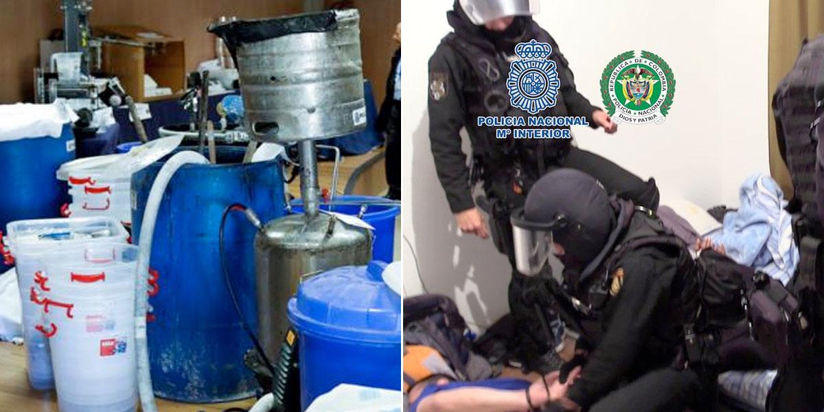 Desarticulan laboratorio de cocaína de disidencia de las Farc en las afueras de Madrid, España