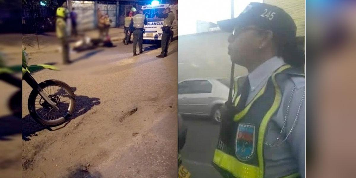 Agente de tránsito fue asesinada por un sicario en el nororiente de Cali