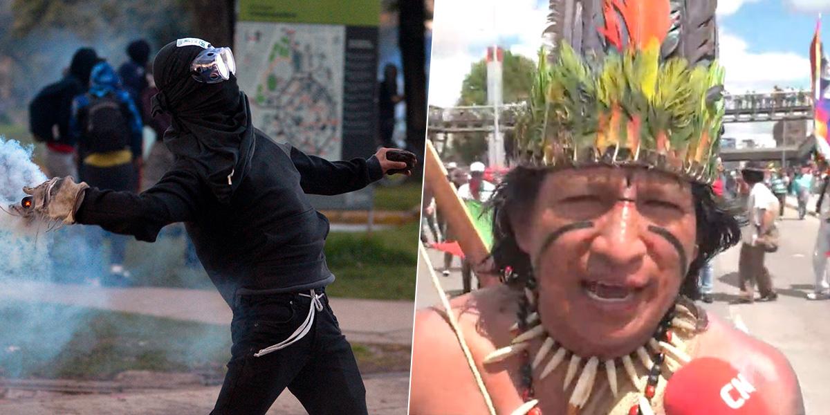 Miembro de la Guardia Indígena dice que vándalos serán amarrados y castigados con fuete