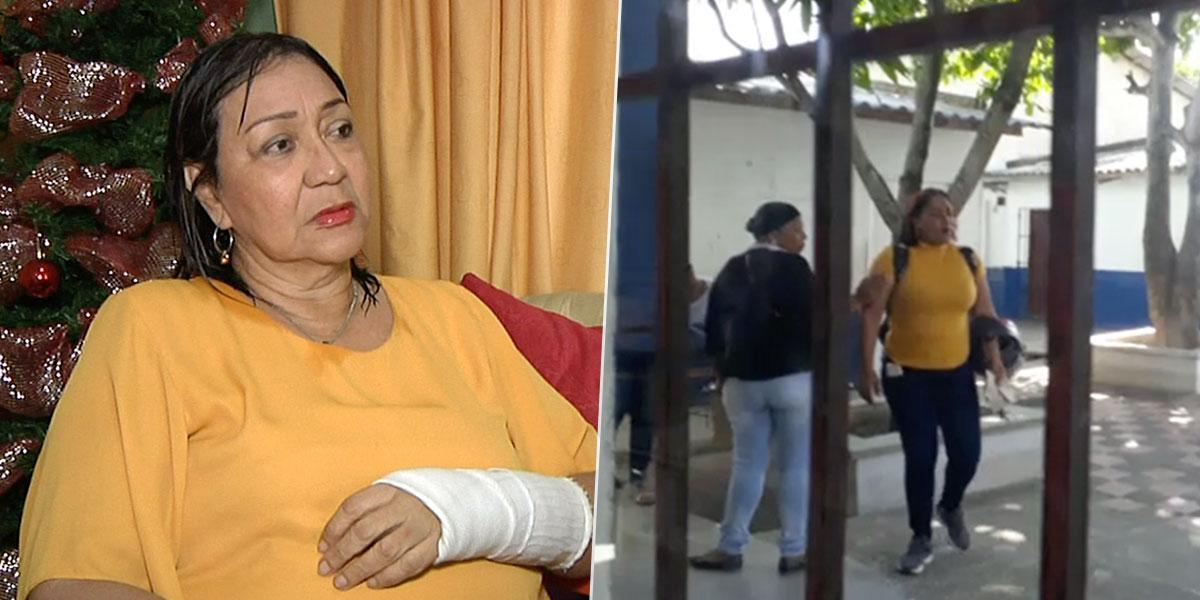 Madre le fracturó el brazo a docente por bajo rendimiento de su hijo en Barranquilla
