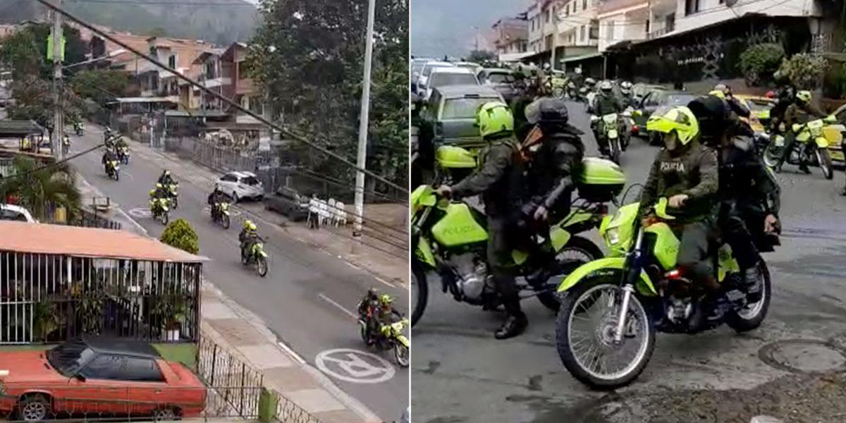 Asonada contra la Policía en Bello Antioquia durante la captura de alias el 'Oso'