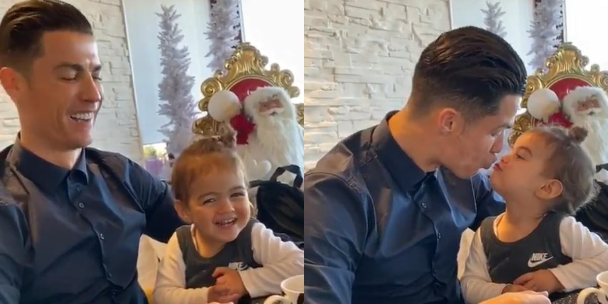 El tierno video de Cristiano Ronaldo y su pequeña hija