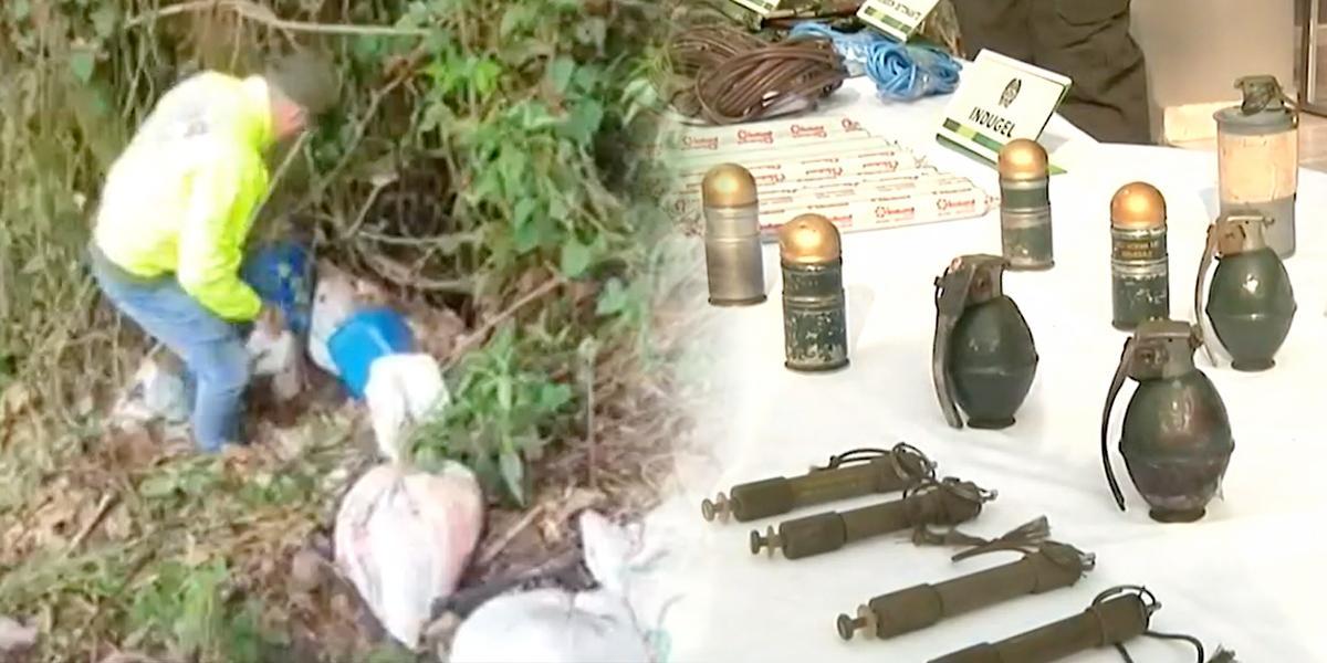 Hallan caleta con material explosivo de disidencia de las Farc en Ituango, Antioquia
