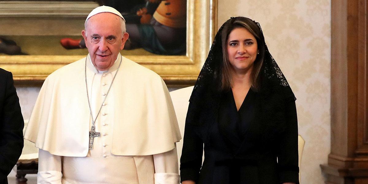 Primera Dama se reunirá con el Papa Francisco en el Vaticano para materializar alianza por los jóvenes