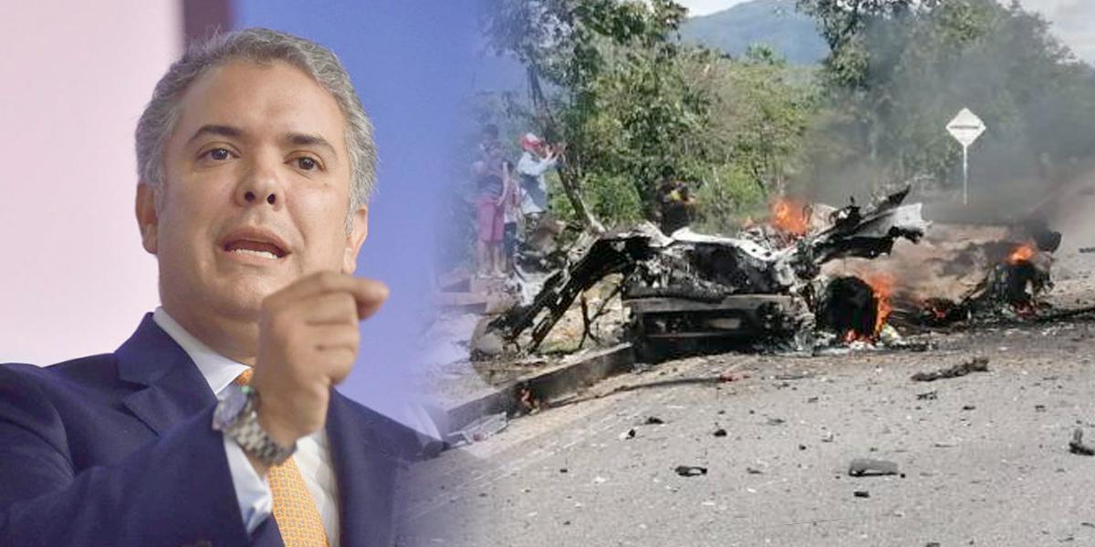 Atentado en Boyacá demuestra que no hay voluntad de paz del ELN: presidente Duque