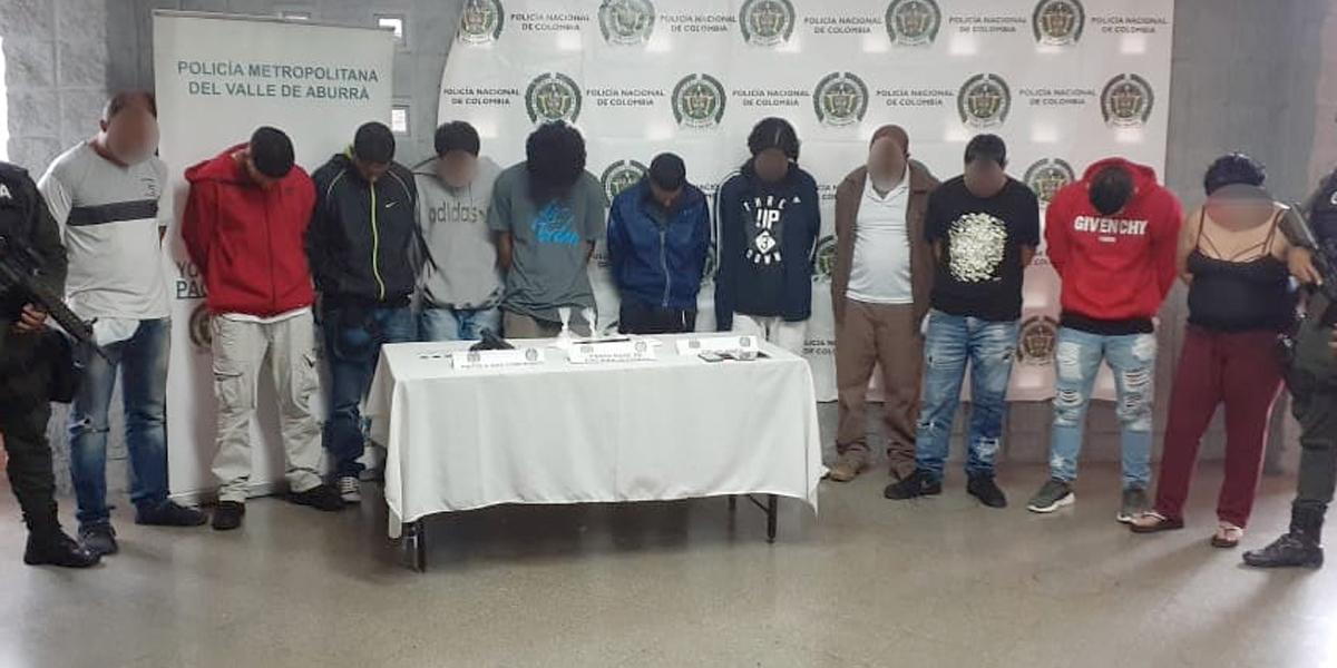 Capturados 23 integrantes de dos peligrosas bandas criminales en Medellín