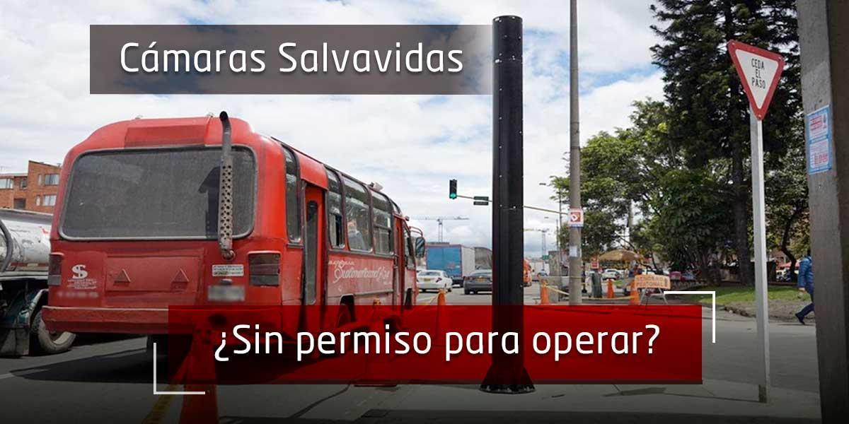 Solo 11 de las 69 cámaras de detección de infracciones tendrían permisos en Bogotá