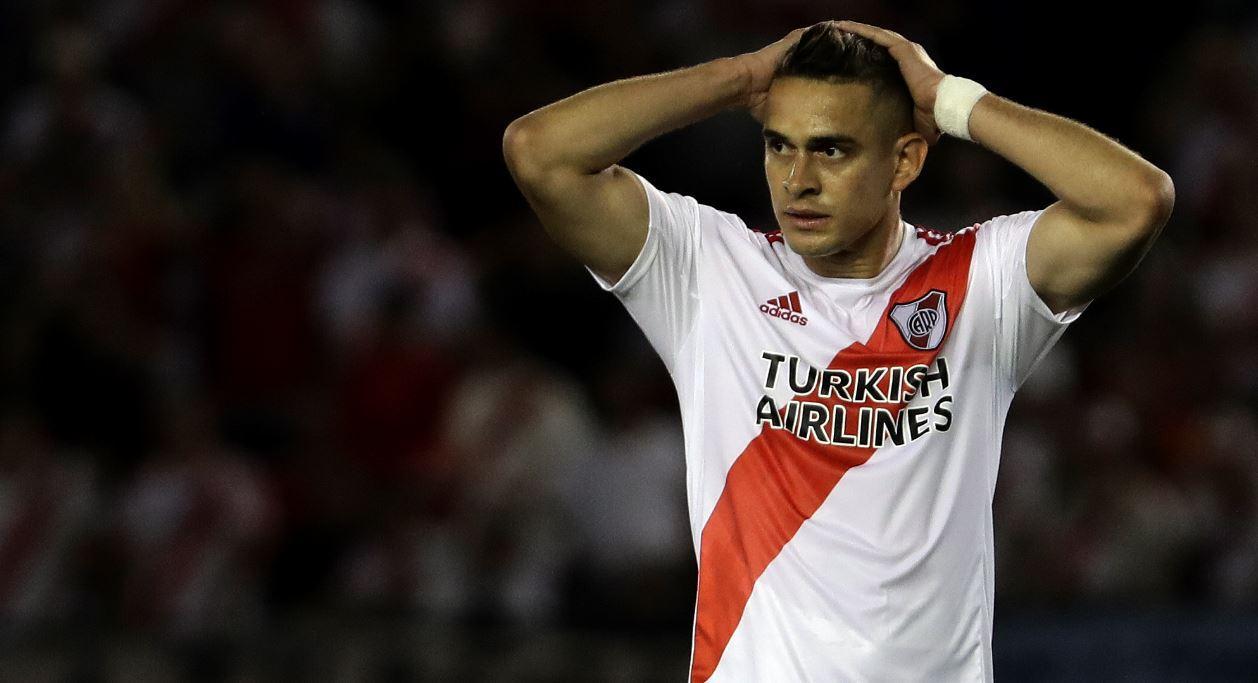 (Video) El regaño de Gallardo al colombiano Borré por su actitud al salir en la final de Copa Argentina