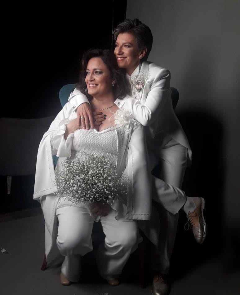 matrimonio angelica lozano claudia lopez de blanco