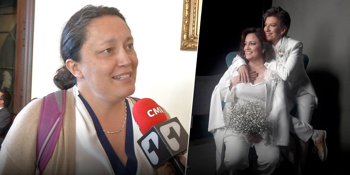 Así se enamoraron Claudia López y Angélica Lozano