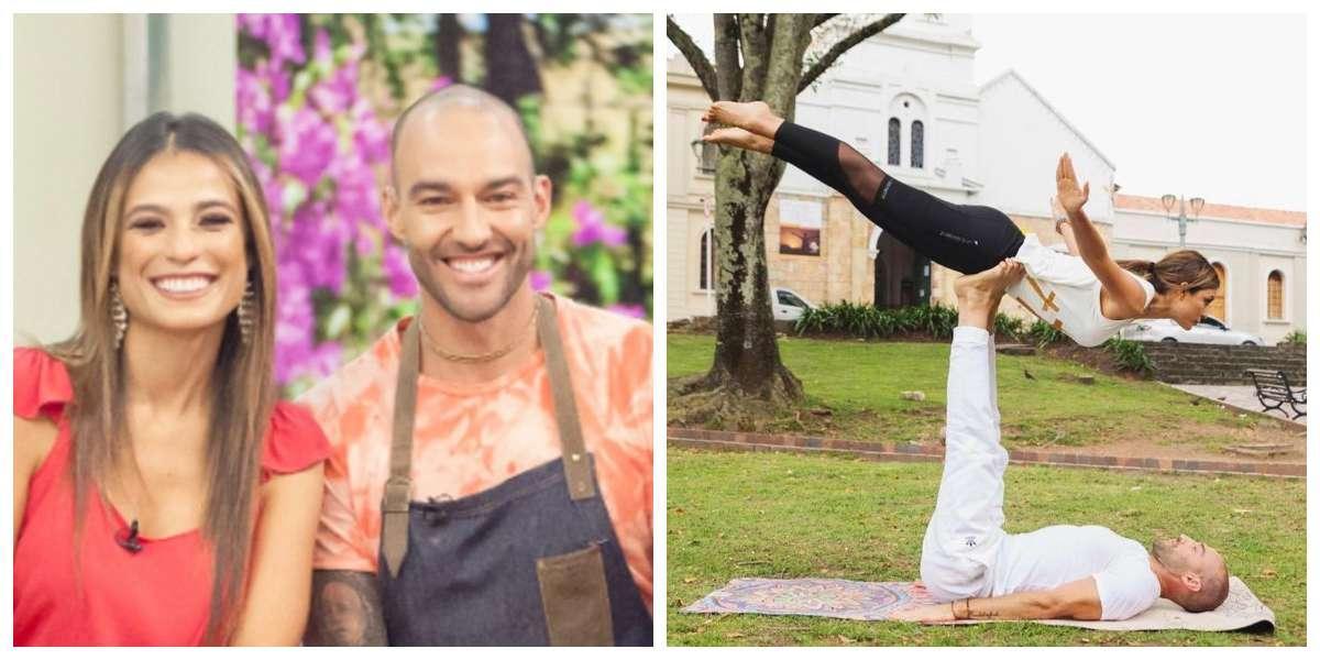 Alexandra Santos y Leo Morán nos enseñan las ventajas de hacer yoga en pareja
