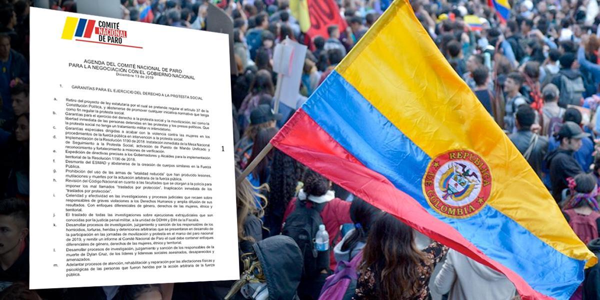 """Estas son las 104 peticiones del comité del paro para """"negociar"""" con el Gobierno"""
