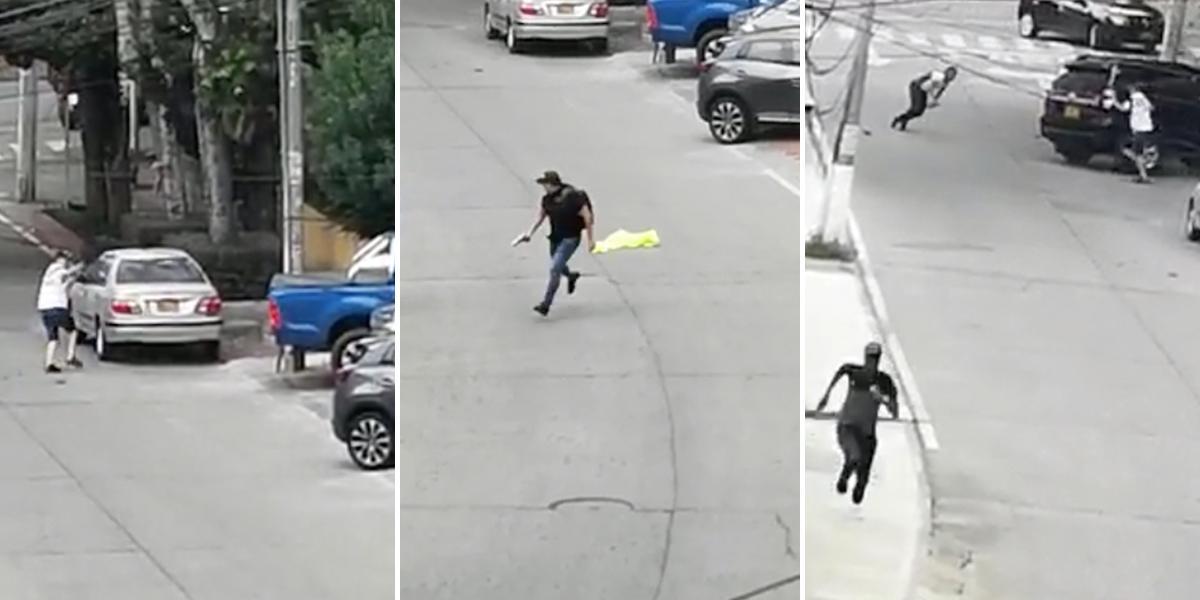 En video: Pánico en Cali por fuerte balacera en un conjunto residencial