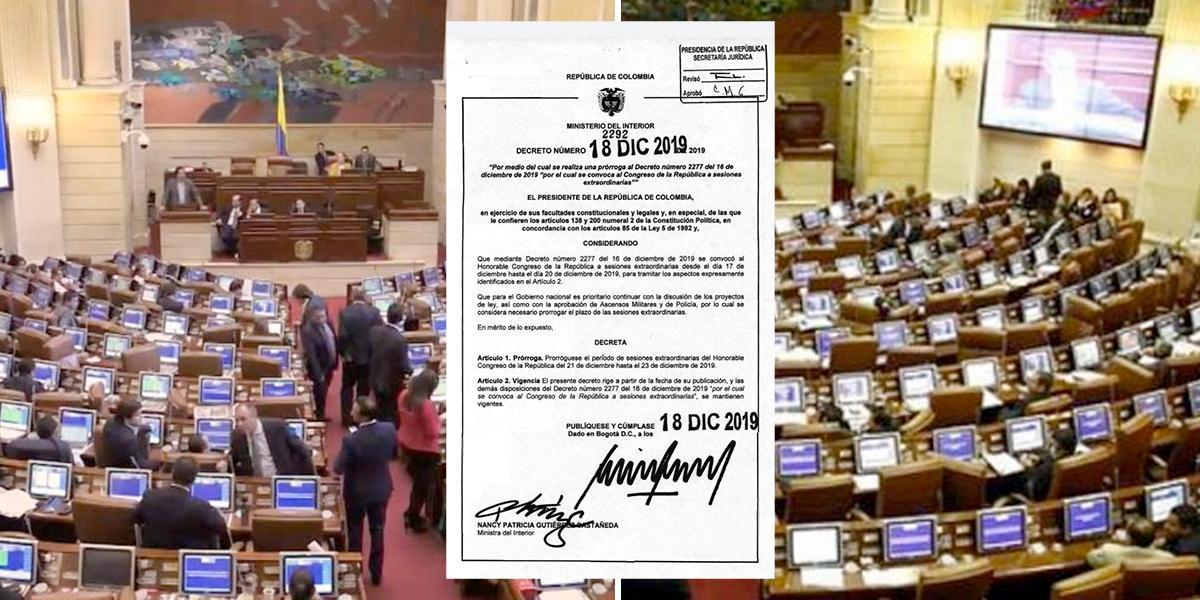 Para alcanzar a votar la reforma tributaria, Gobierno extiende sesiones extra del Congreso