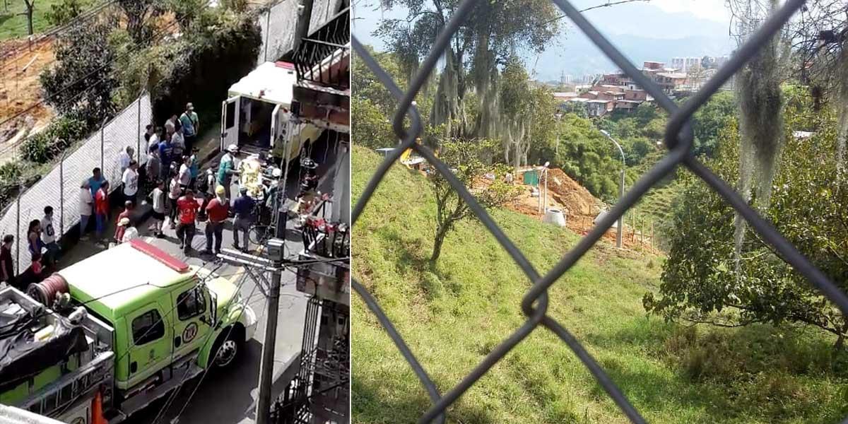 Dos muertos deja deslizamiento en Medellín