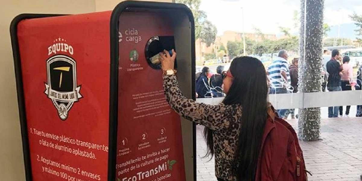 Más de 600 mil envases ha recolectado TransMilenio con Eco-TransMi