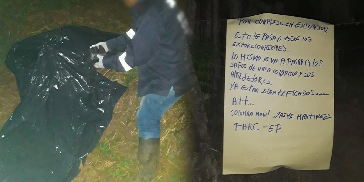 Investigan asesinato de un hombre en Jamundí y panfleto junto al cuerpo