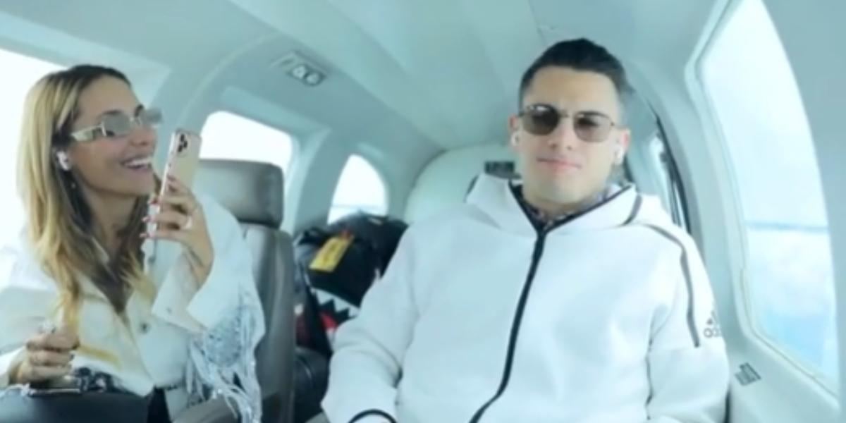La broma de Luisa Fernanda W a Pipe Bueno en pleno avión