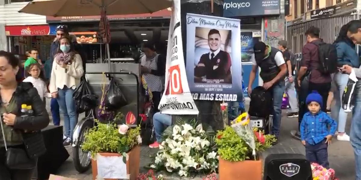 Así fue el plantón en homenaje a Dilan Cruz
