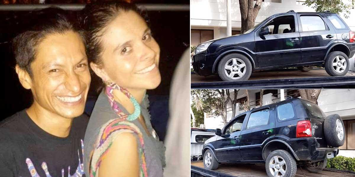 Con placas de Venezuela, hallan camioneta de la pareja de ambientalistas que fue asesinada